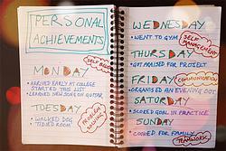 naplóba beír angolul