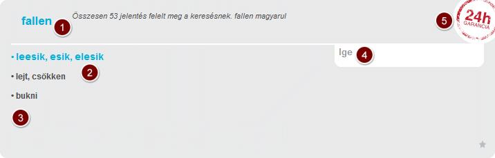 Magyar német szótár példa címszó.